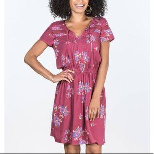 Matilda Jane Mauve Pink Art Class Floral Dress S